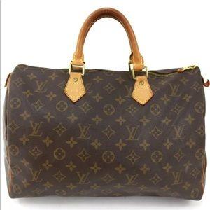 LOUIS VUITTON Monogram Speedy 35 Handbag